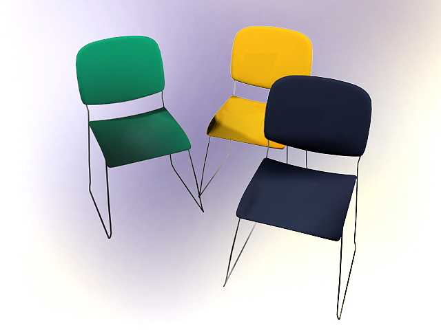 Modern conference chairs 3d rendering