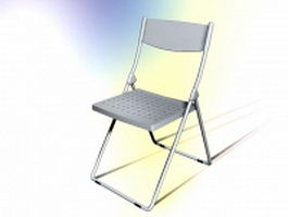 Simple conference chair 3d model preview