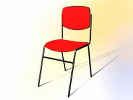 Stackable conference chair 3d model preview