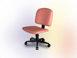 Office pink swivel chair 3d model preview