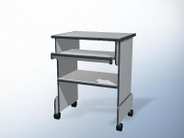 Small computer table 3d model preview