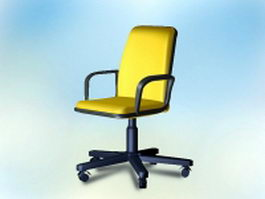 Office revolving chair 3d model preview