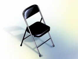Stackable conference chair - black 3d model preview