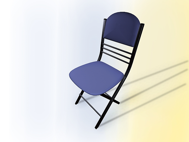Blue conference chair 3d rendering