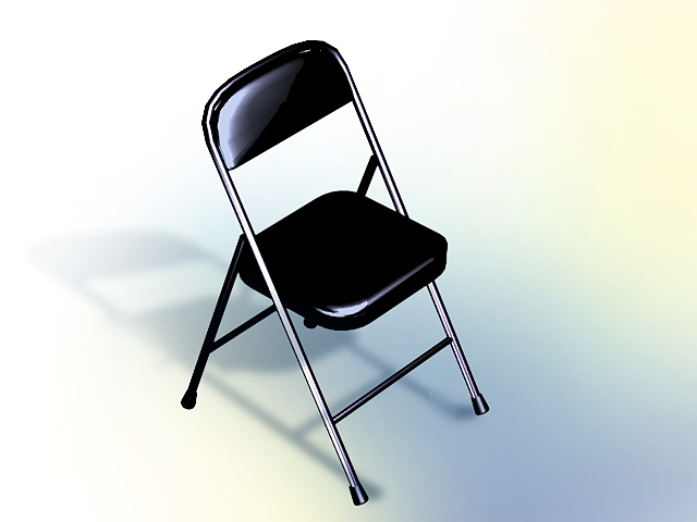 Stackable conference chair - black 3d rendering