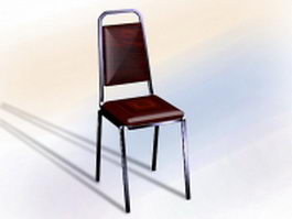 Red banquet chair 3d preview
