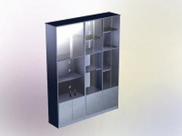Office storage cabinet 3d preview