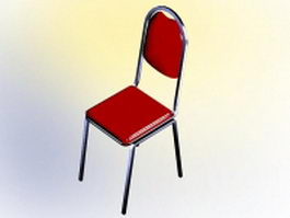 Red conference chair 3d model preview