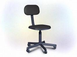 Ikea office swivel chair 3d model preview