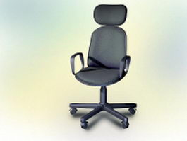 Contemporary office chair 3d model preview