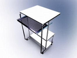 School computer table 3d preview
