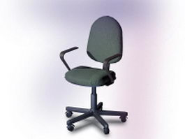 Swivel office chair 3d model preview