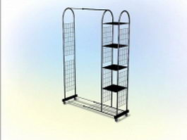 Metal magazine rack 3d preview