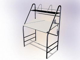 Metal working table 3d preview