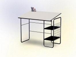 Simple staff desk 3d preview