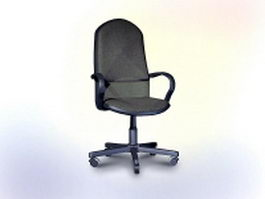Office chair design 3d model preview