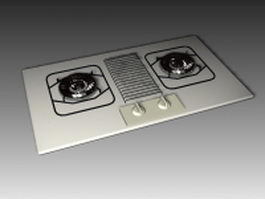 Stove top burner 3d model preview