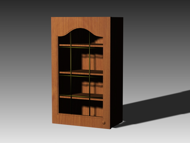 Antique kitchen cupboard 3d rendering