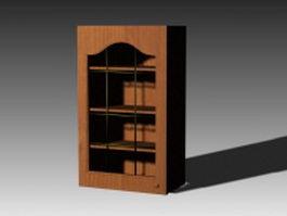 Antique kitchen cupboard 3d model preview