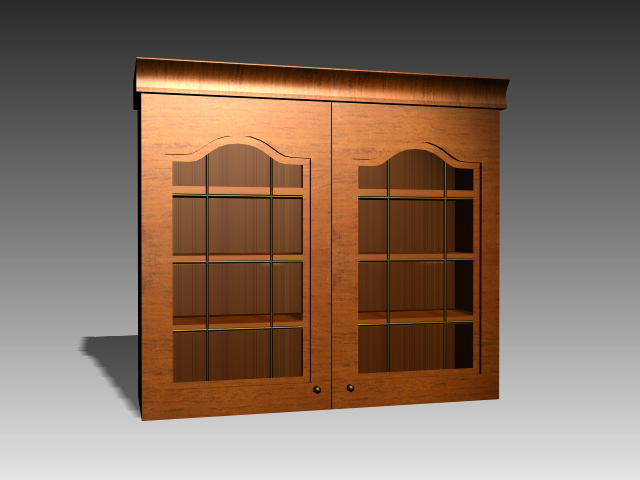 Classic kitchen wall cabinet 3d rendering