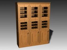 Kitchen cupboard storage 3d preview