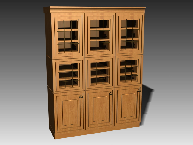 Kitchen cupboard storage 3d rendering