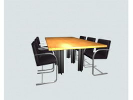 Conference room furniture sets 3d preview