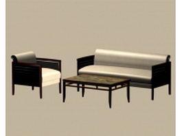 Office sofa set 3d preview