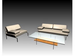 Home office sofa set 3d model preview