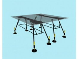 Modern glass conference table 3d model preview