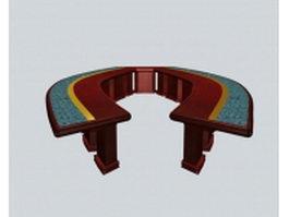 Unique conference tables 3d model preview