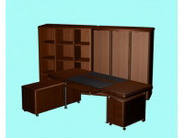 Executive office furniture sets 3d preview