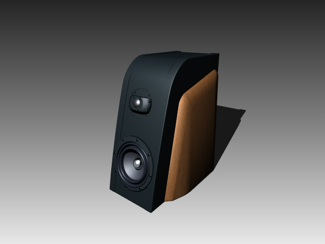 Desktop speaker box 3d rendering