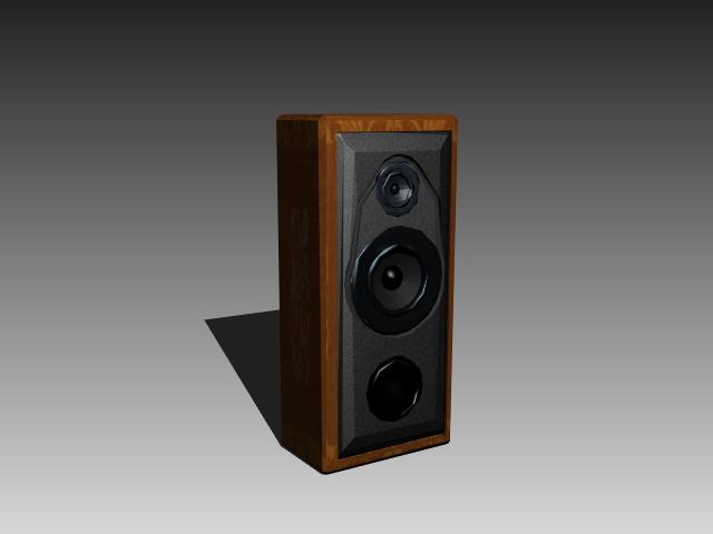 Three way speaker box 3d rendering