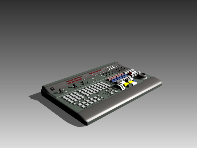 Professional audio mixing console 3d rendering