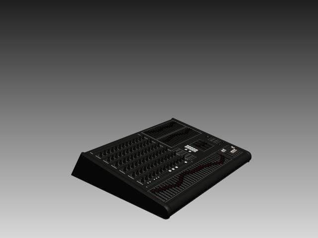 Audio production console 3d rendering