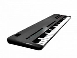 MIDI keyboard controller 3d preview