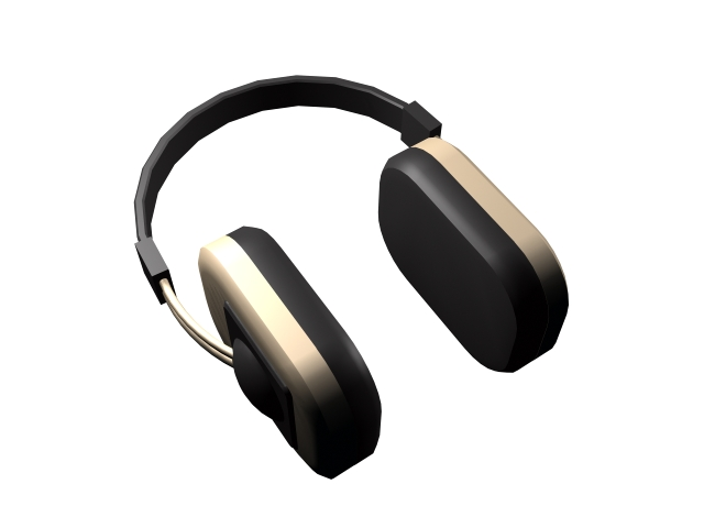 Modern headphone 3d rendering