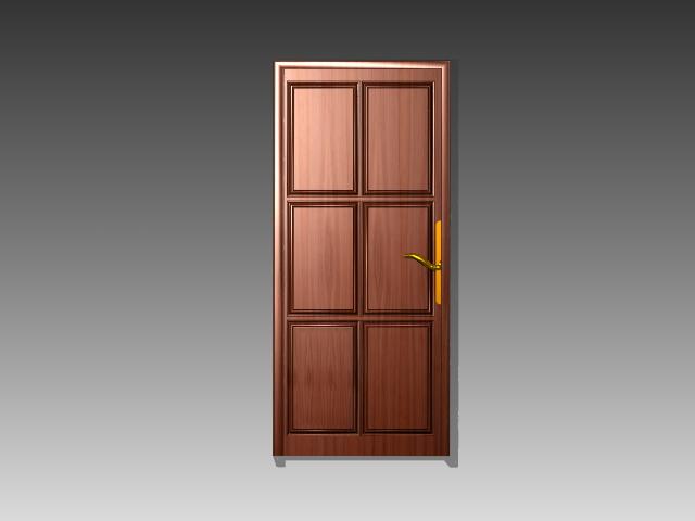 Copper door 3d rendering