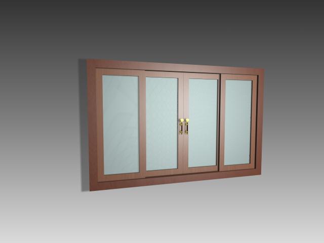 Interior glass partition doors 3d rendering