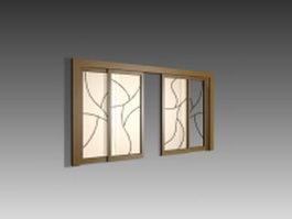 Art glass partition door 3d preview