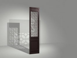 Fixed room divider panel 3d model preview