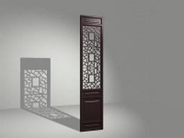 Latticework room divider panel 3d model preview