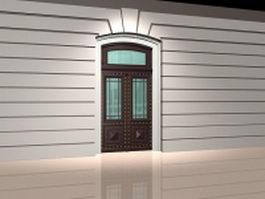 Double front door 3d model preview