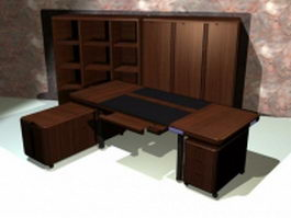 Executive office furniture suites 3d preview