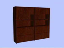 Office wall units 3d preview