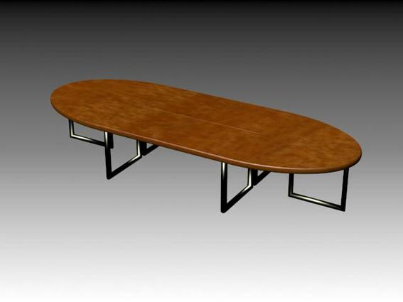 Ellipse conference table 3d rendering