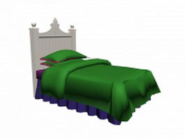 Imperial single guest bed 3d model preview