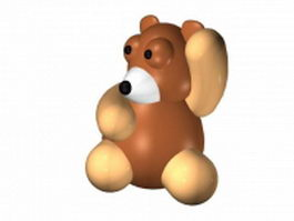 Cartoon teddy bear 3d model preview