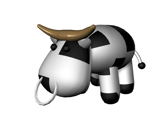 Cartoon cow 3d rendering